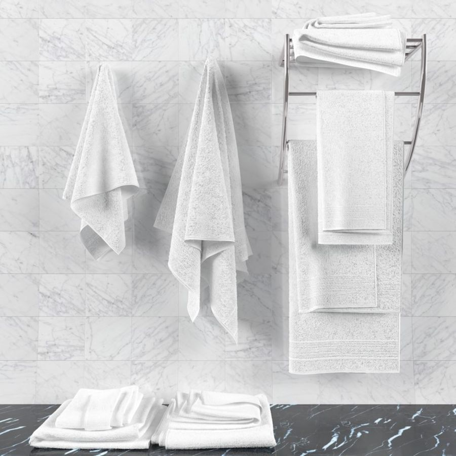 Towels royalty-free 3d model - Preview no. 7