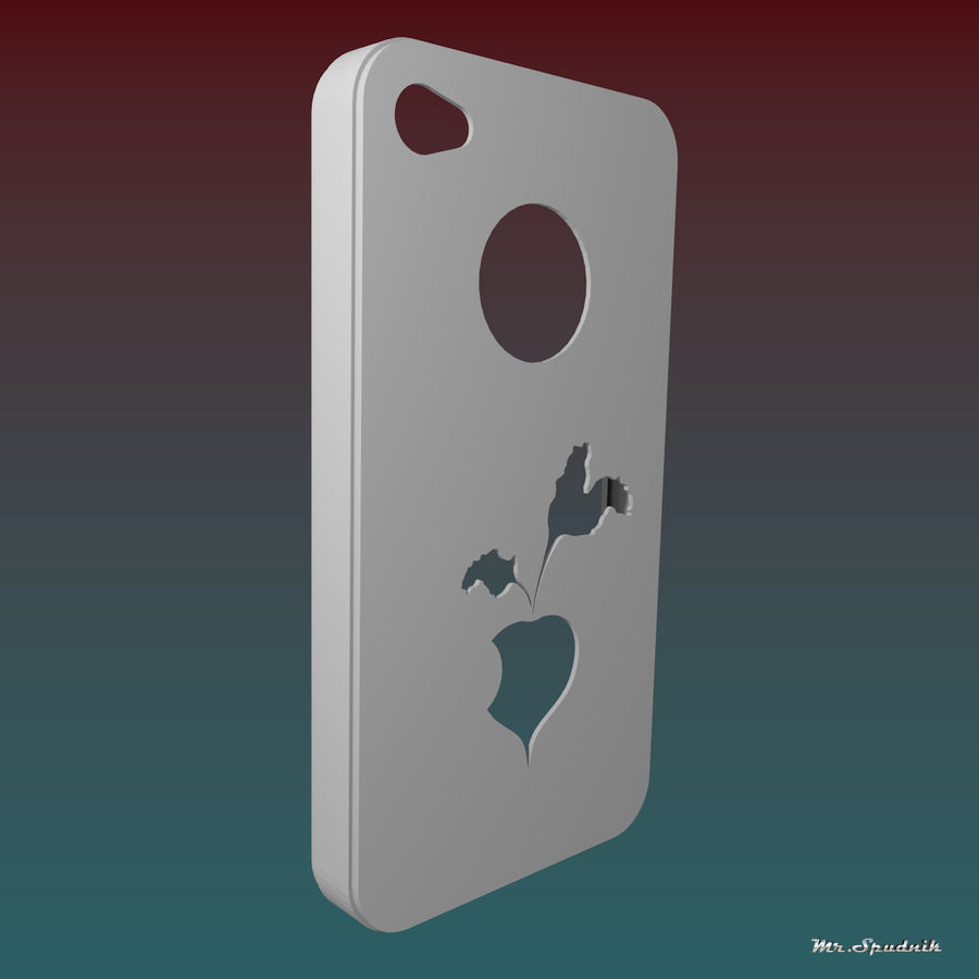 Fodral för iPhone 4 (betor) royalty-free 3d model - Preview no. 3