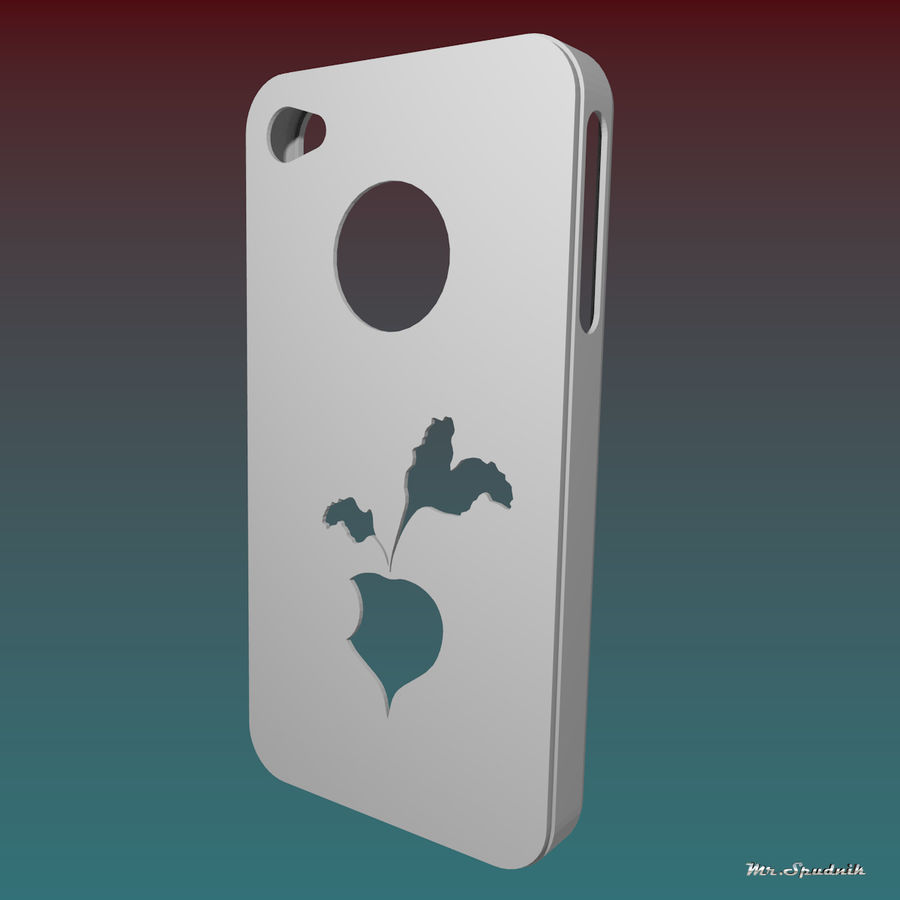 Fodral för iPhone 4 (betor) royalty-free 3d model - Preview no. 2