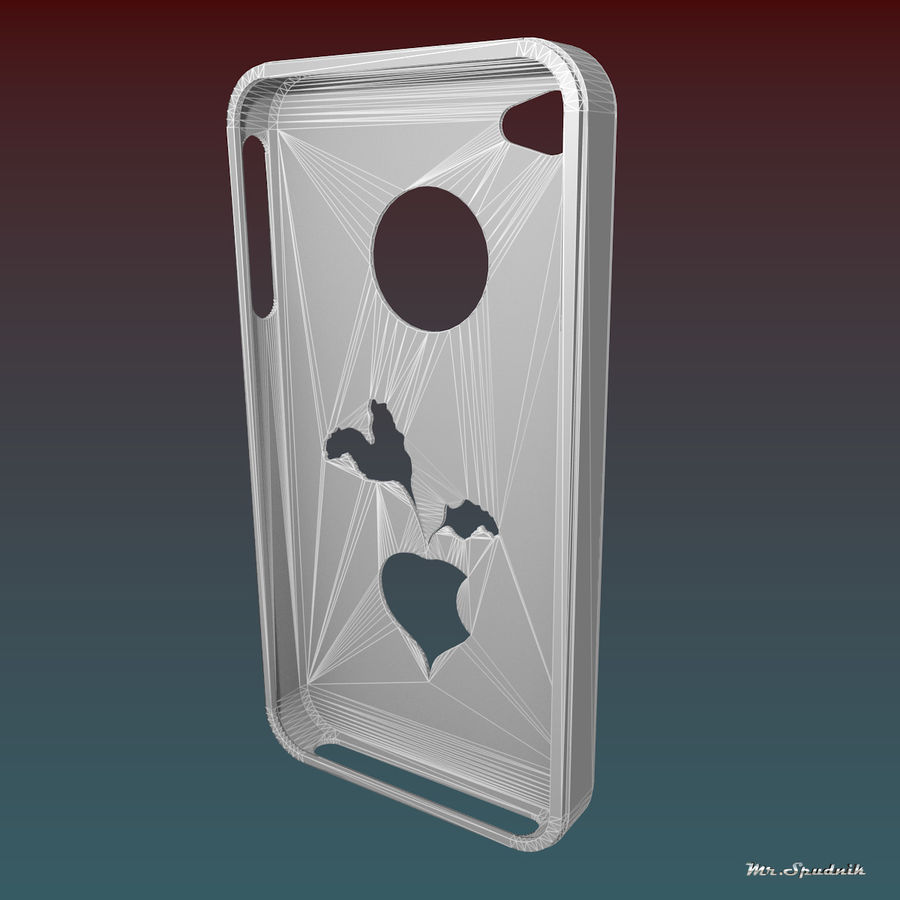Fodral för iPhone 4 (betor) royalty-free 3d model - Preview no. 6