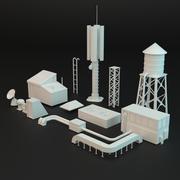 Rooftop elements 3d model
