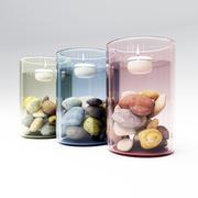 Kaars in een glas 3d model