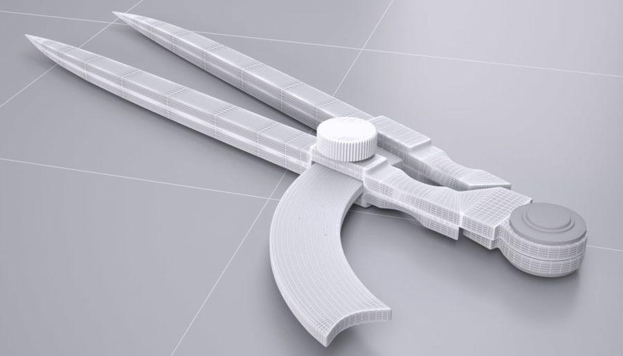 циркуль royalty-free 3d model - Preview no. 10