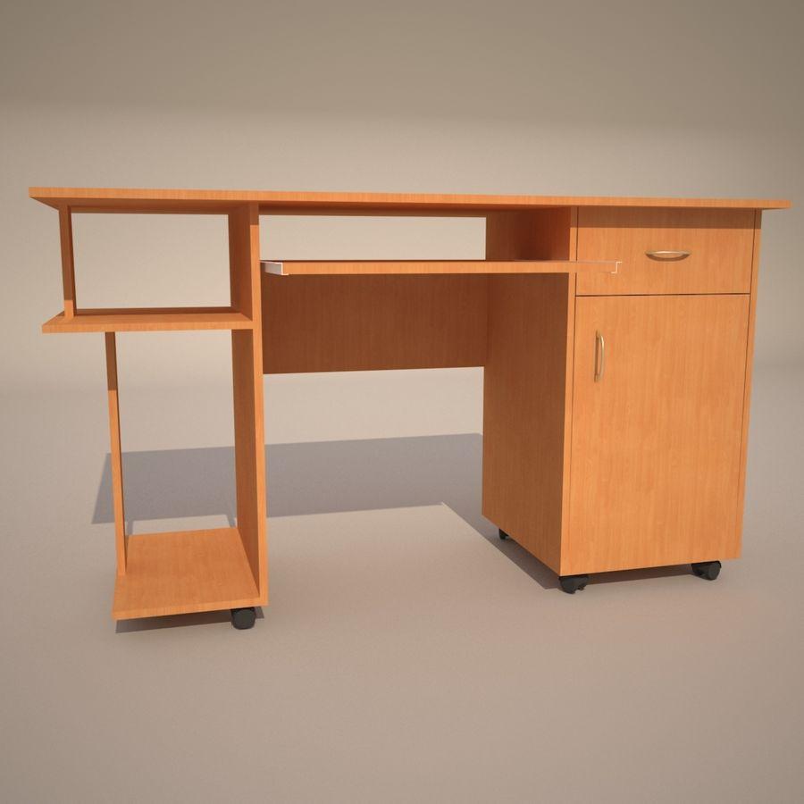 tavolo per computer royalty-free 3d model - Preview no. 3