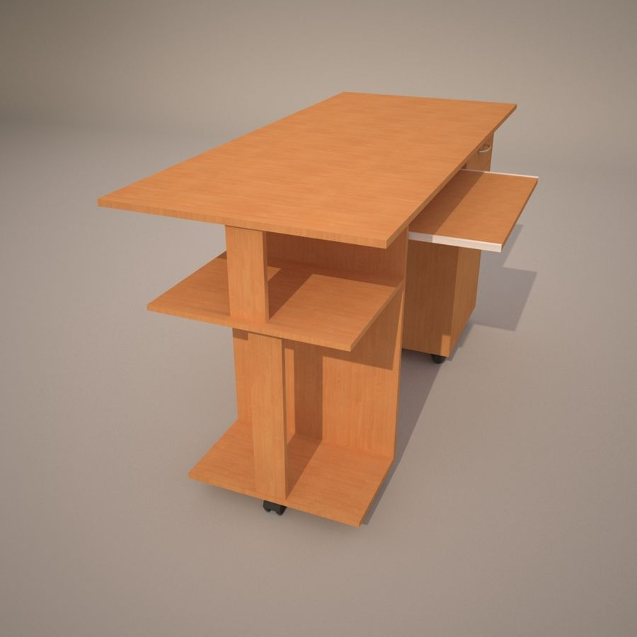 tavolo per computer royalty-free 3d model - Preview no. 5