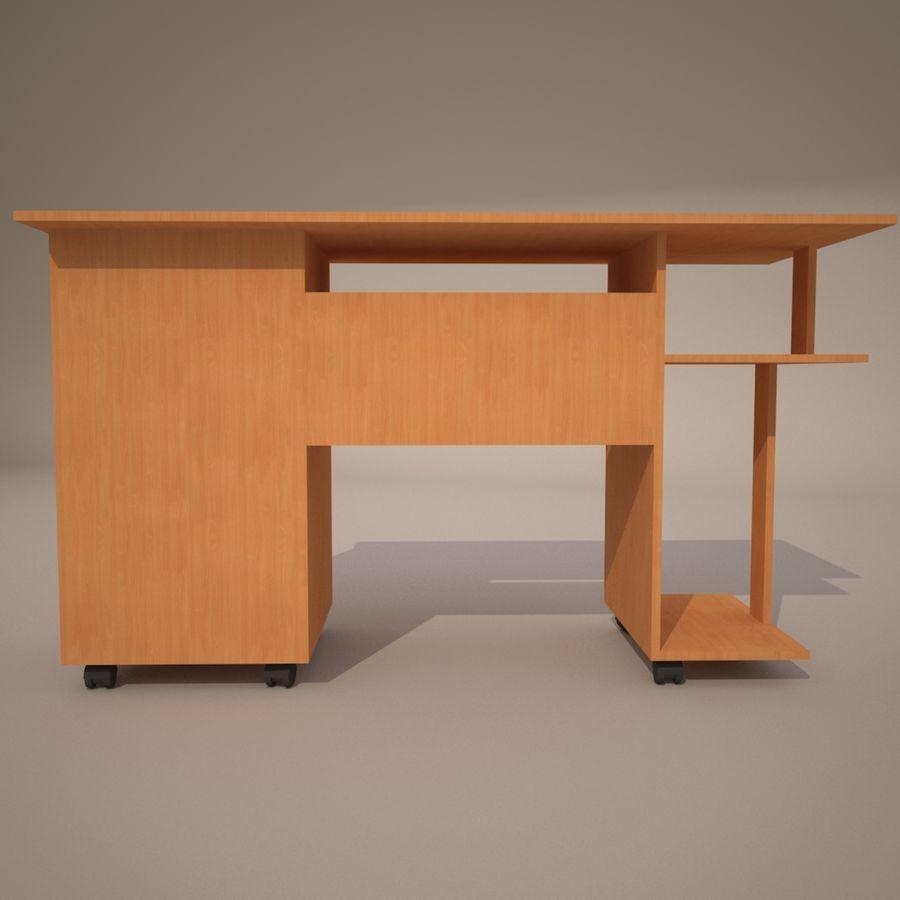 tavolo per computer royalty-free 3d model - Preview no. 4