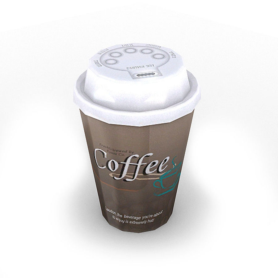 Coffee Bundle 1 royalty-free 3d model - Preview no. 5
