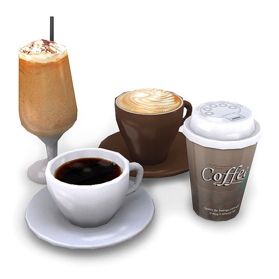 Coffee Bundle 1 royalty-free 3d model - Preview no. 1
