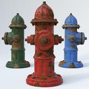 Rostig brandpost 3d model