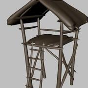 Strażnica z niskim poli 3d model