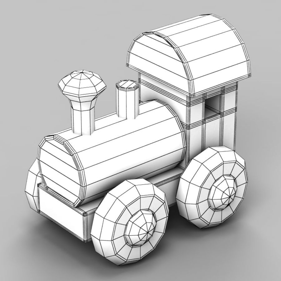 Brinquedo de trem royalty-free 3d model - Preview no. 6