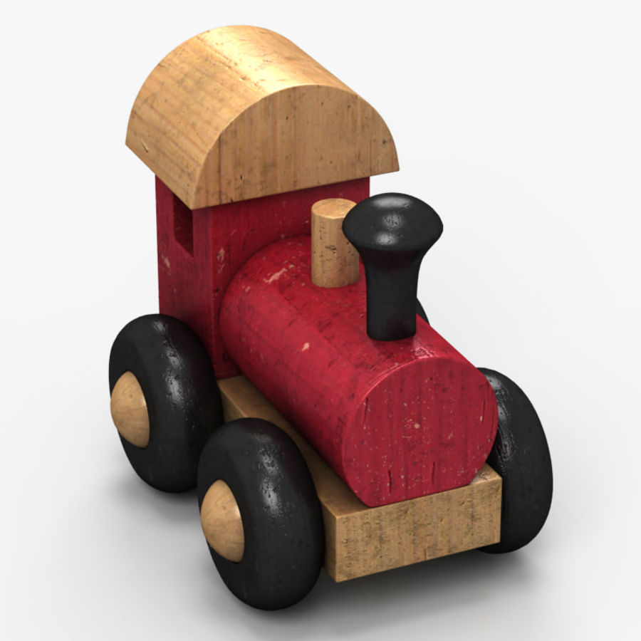 Brinquedo de trem royalty-free 3d model - Preview no. 3