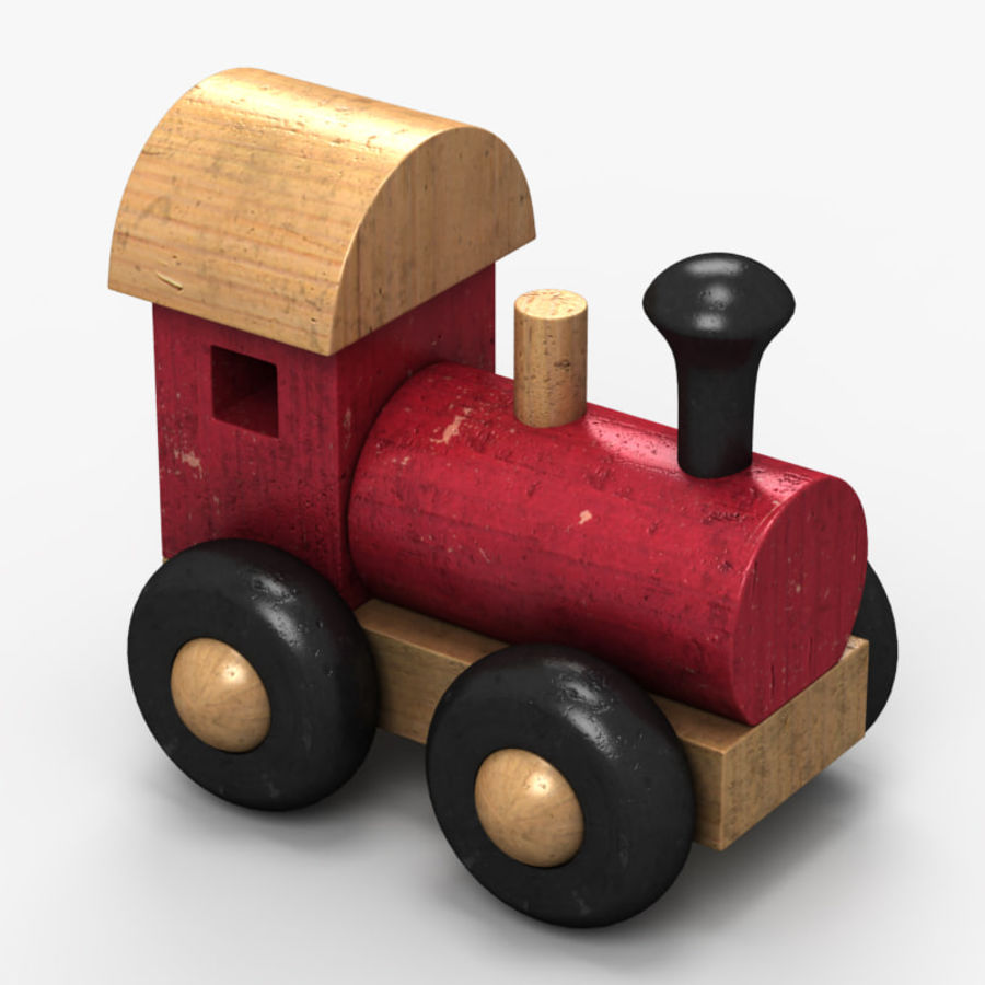 Brinquedo de trem royalty-free 3d model - Preview no. 4