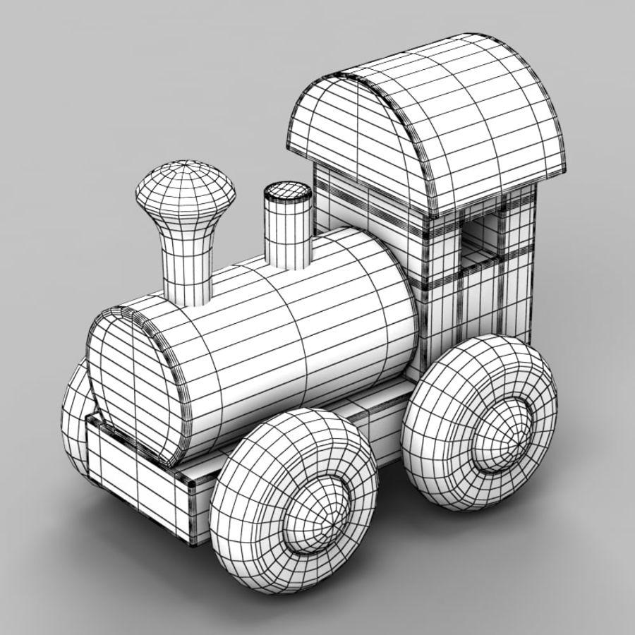 Brinquedo de trem royalty-free 3d model - Preview no. 8