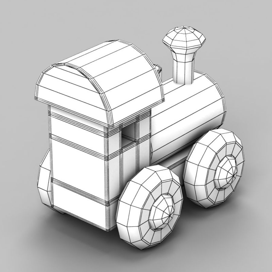 Brinquedo de trem royalty-free 3d model - Preview no. 7
