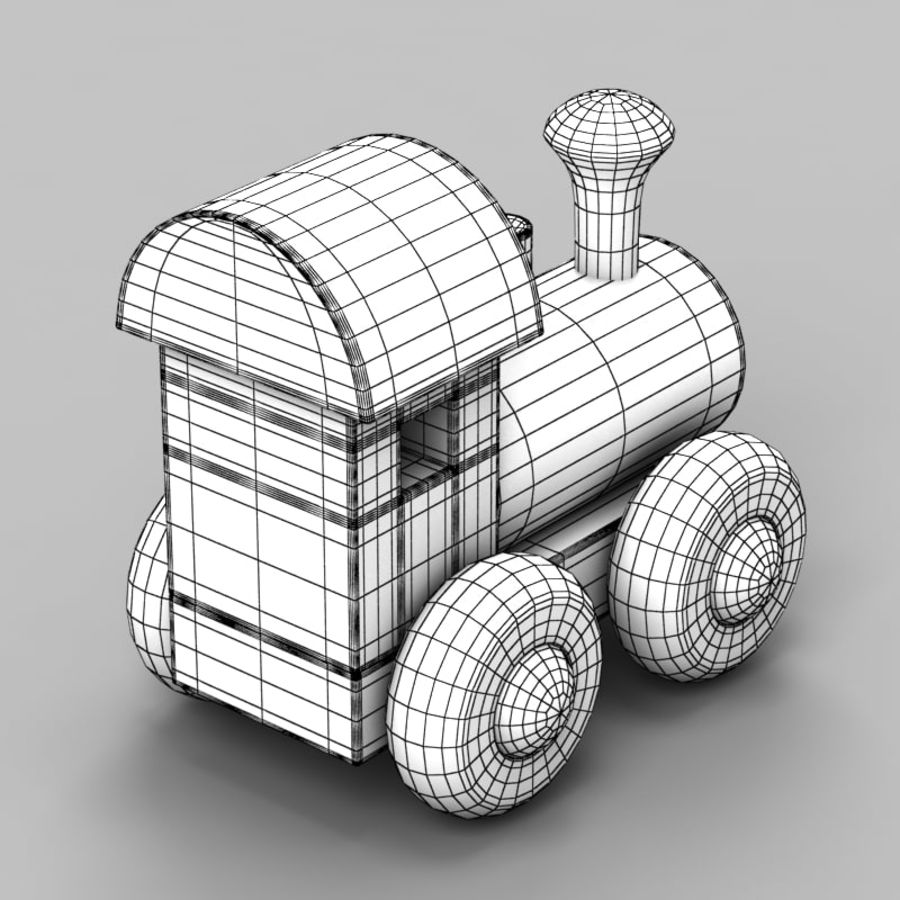 Brinquedo de trem royalty-free 3d model - Preview no. 9