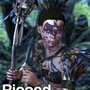 Czarownica z dżungli 3d model