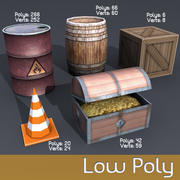 Low poly stuff 3d model