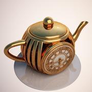ティーポット時計 3d model