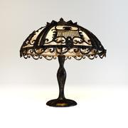 Lampe Art Nouveau 3d model