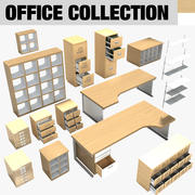Office Furniture Collection (2) 3d model