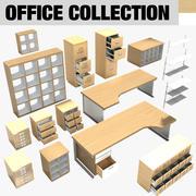 Colección de muebles de oficina (2) modelo 3d