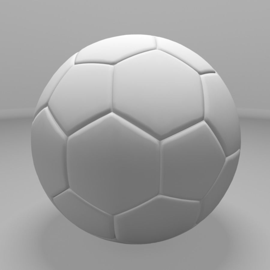 Soccer Ball (football) royalty-free 3d model - Preview no. 6