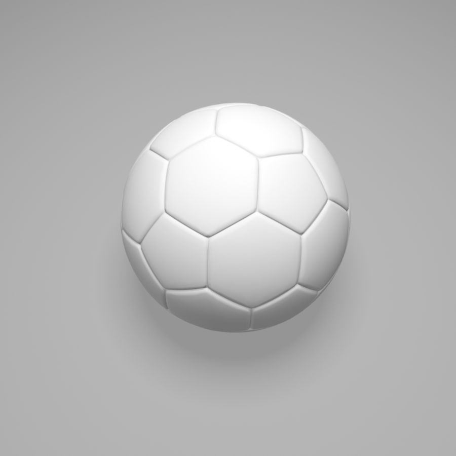 Soccer Ball (football) royalty-free 3d model - Preview no. 7
