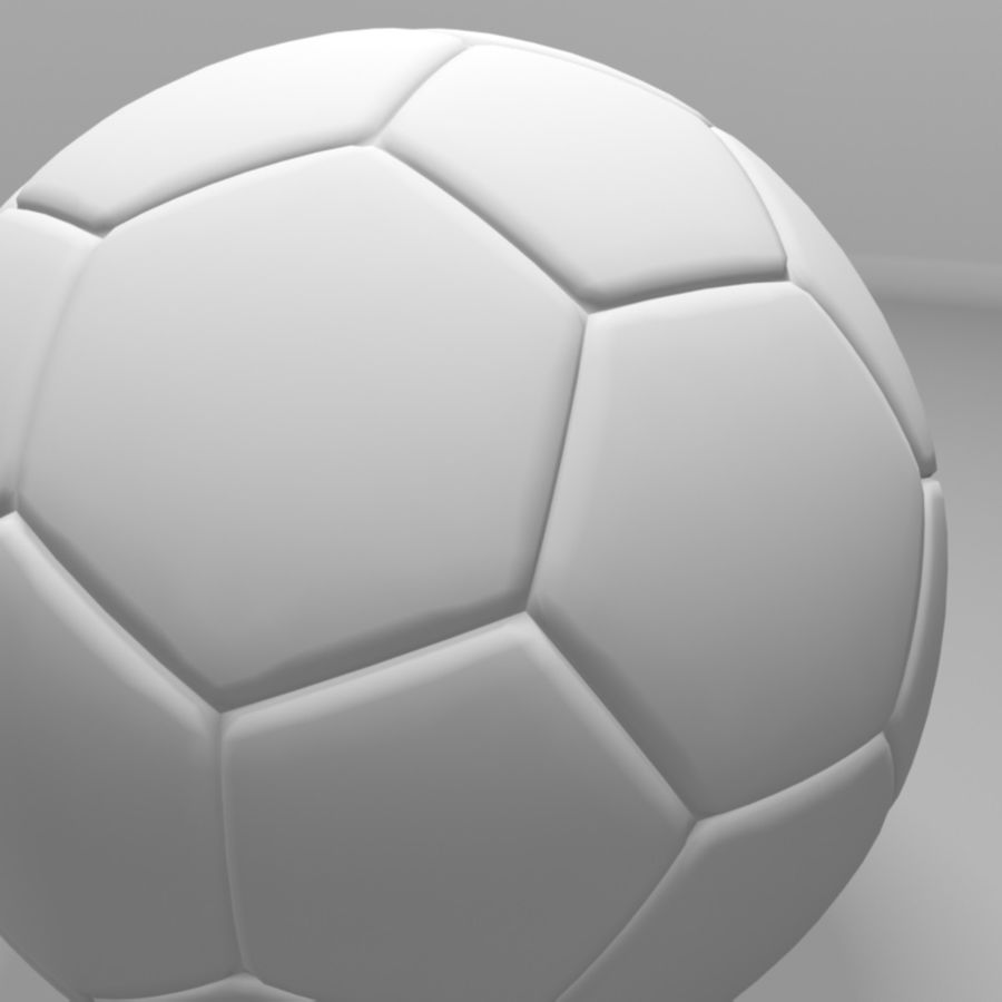 Soccer Ball (football) royalty-free 3d model - Preview no. 8