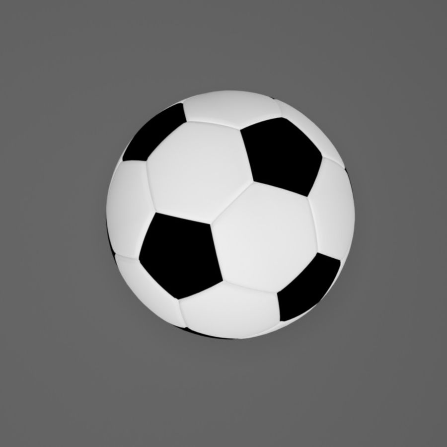 Soccer Ball (football) royalty-free 3d model - Preview no. 2
