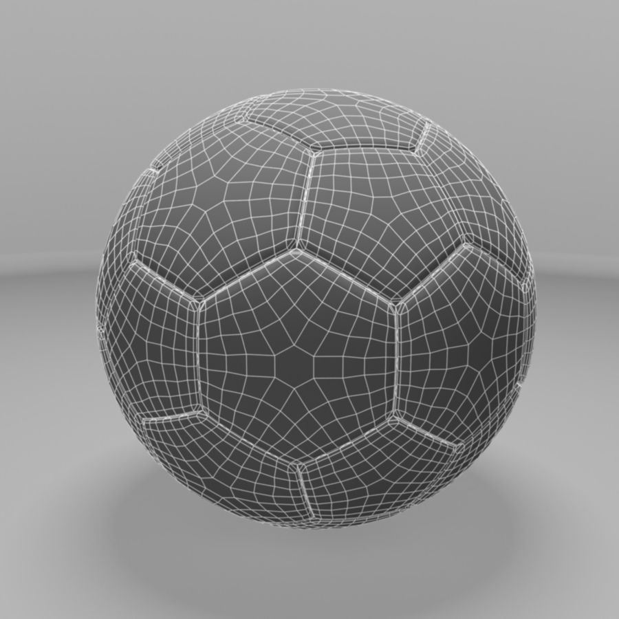 Soccer Ball (football) royalty-free 3d model - Preview no. 9