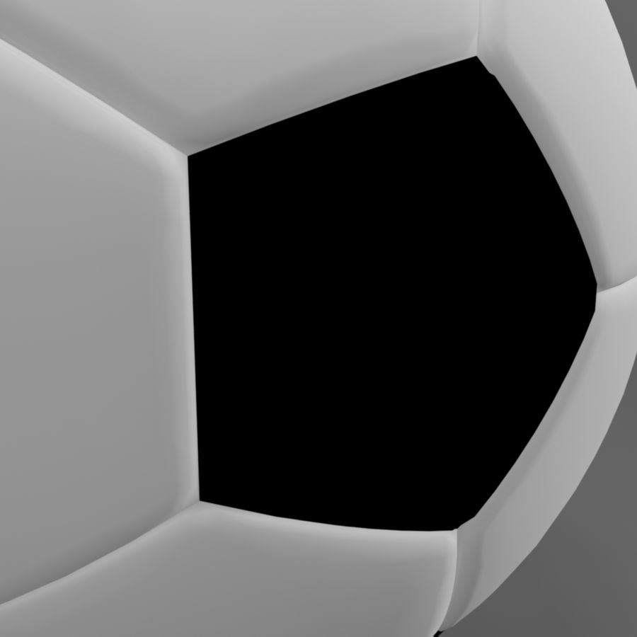 Soccer Ball (football) royalty-free 3d model - Preview no. 5