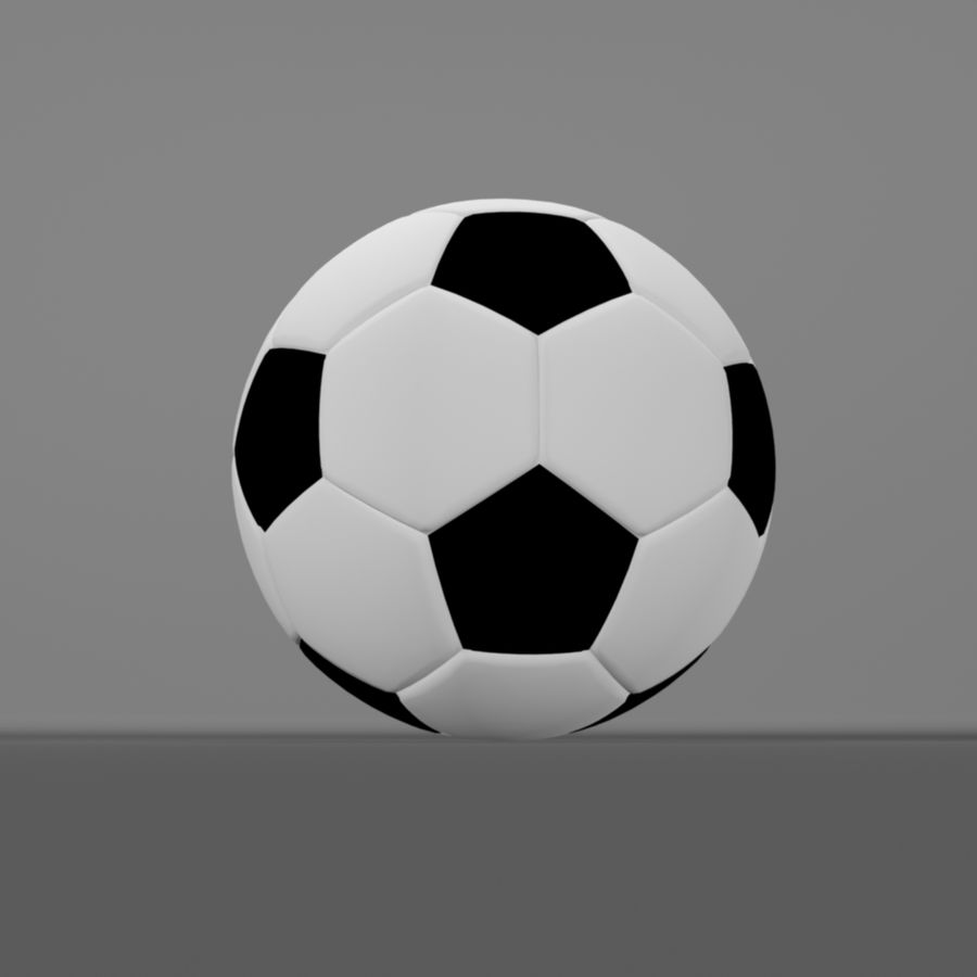 Soccer Ball (football) royalty-free 3d model - Preview no. 3