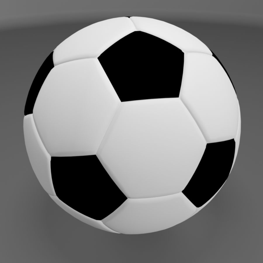 Soccer Ball (football) royalty-free 3d model - Preview no. 1