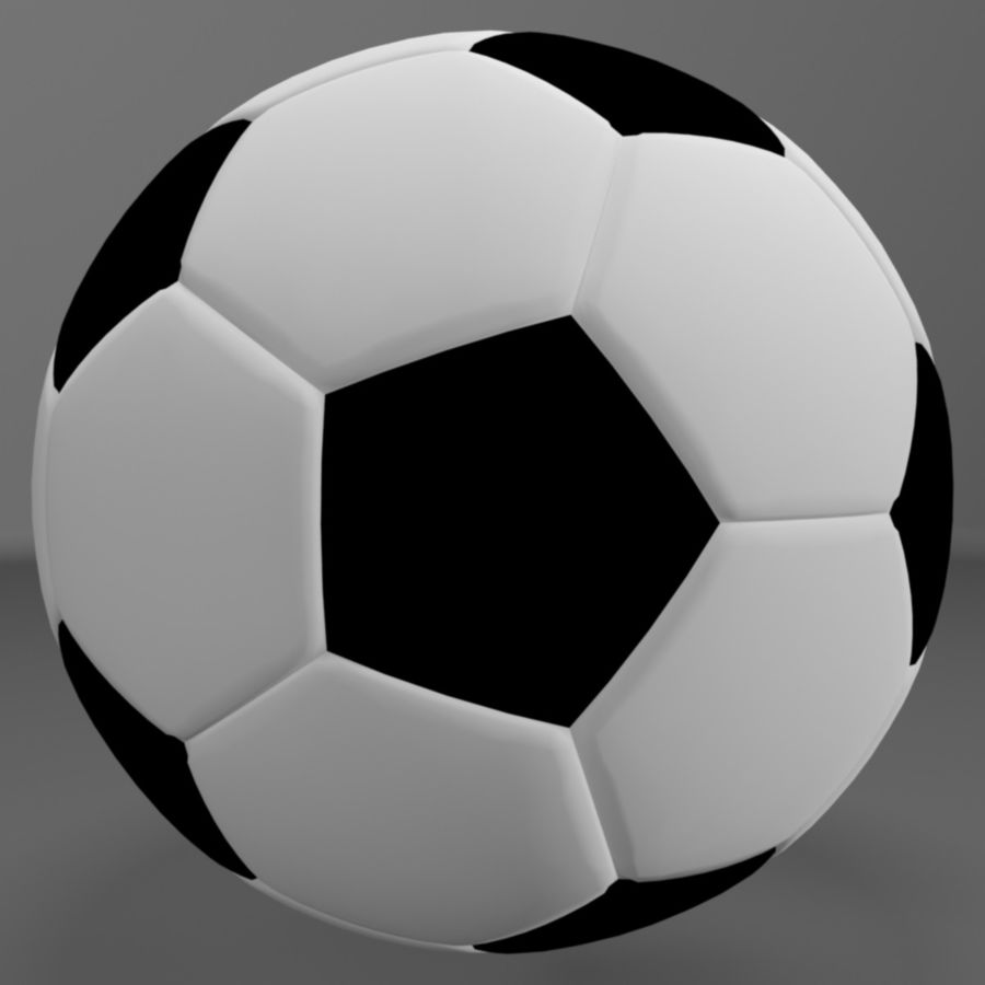 Soccer Ball (football) royalty-free 3d model - Preview no. 4
