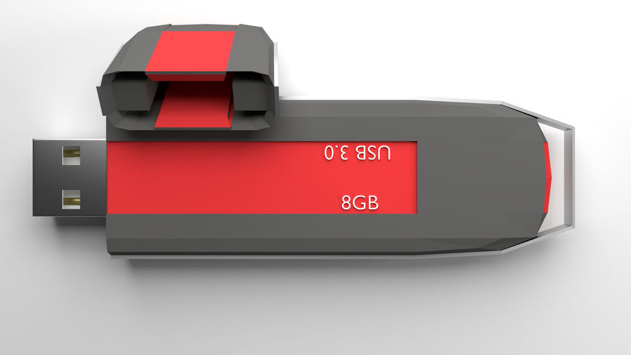 Flash Drive royalty-free 3d model - Preview no. 4