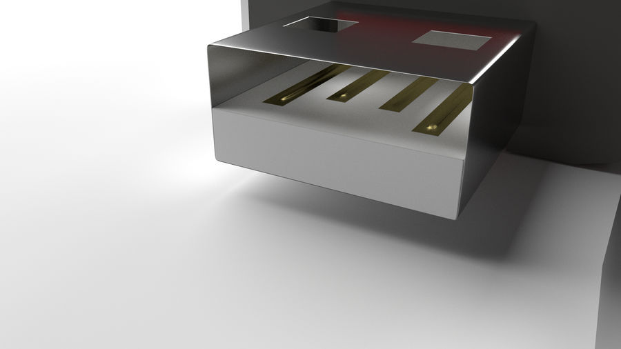 Flash Drive royalty-free 3d model - Preview no. 3
