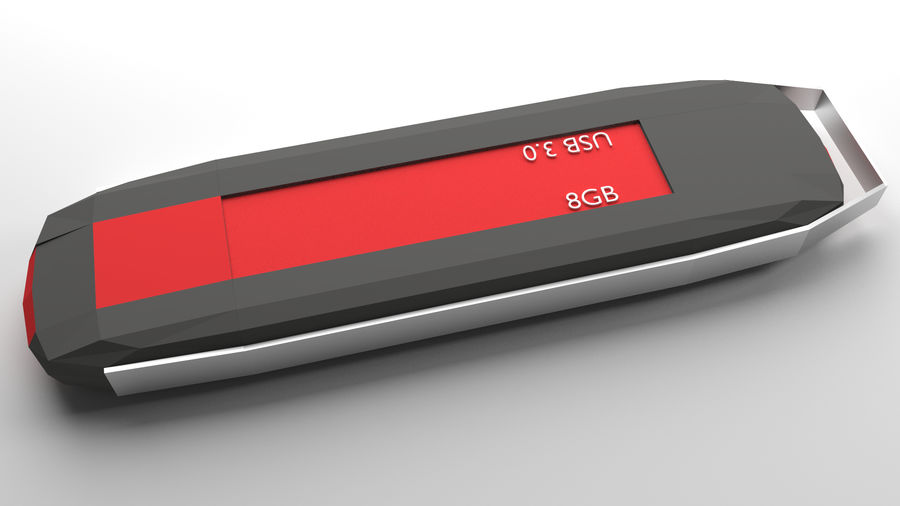 Flash Drive royalty-free 3d model - Preview no. 2