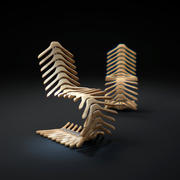 Manteau-cintre-chaise 3d model