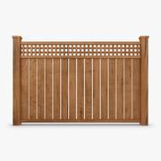 Fence Wood 03 3d model