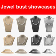 Jewel bust showcases 3d model