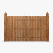 Fence Wood 04 3d model