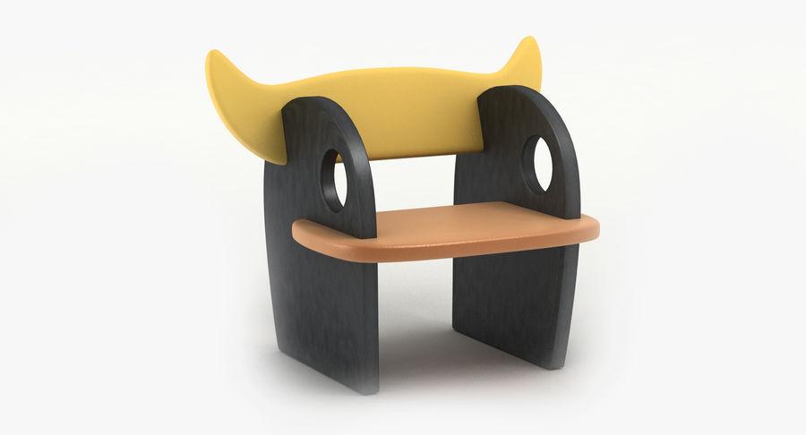 Cadeira para crianças royalty-free 3d model - Preview no. 2