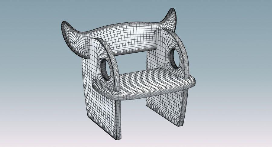 Cadeira para crianças royalty-free 3d model - Preview no. 10