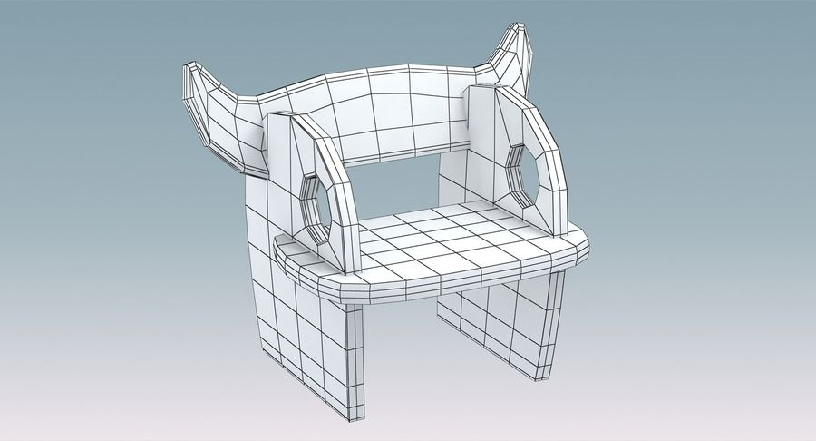 Silla para niños royalty-free modelo 3d - Preview no. 8