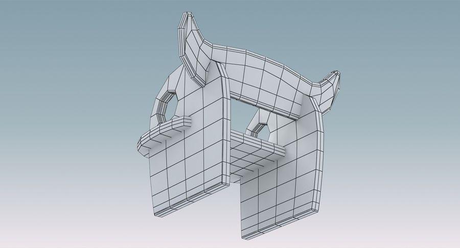Cadeira para crianças royalty-free 3d model - Preview no. 12
