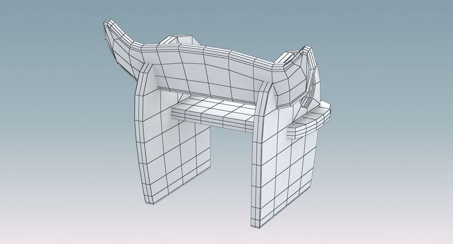 Silla para niños royalty-free modelo 3d - Preview no. 11