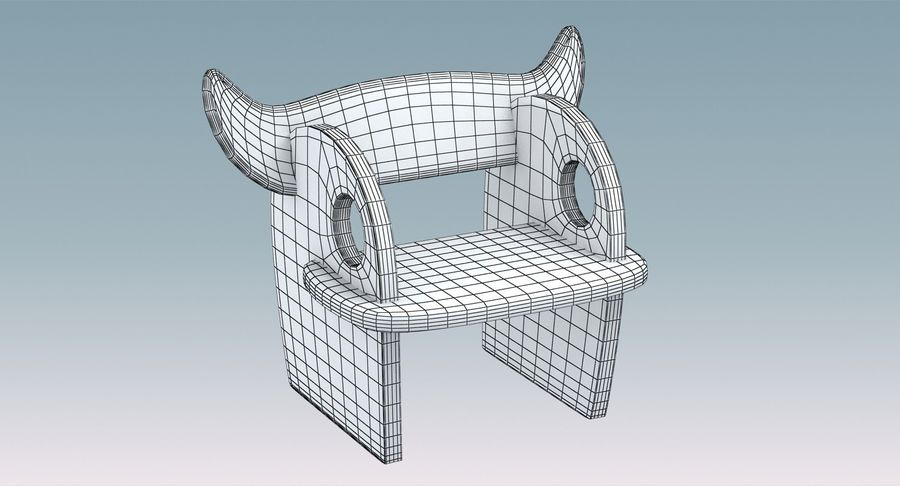 Silla para niños royalty-free modelo 3d - Preview no. 9
