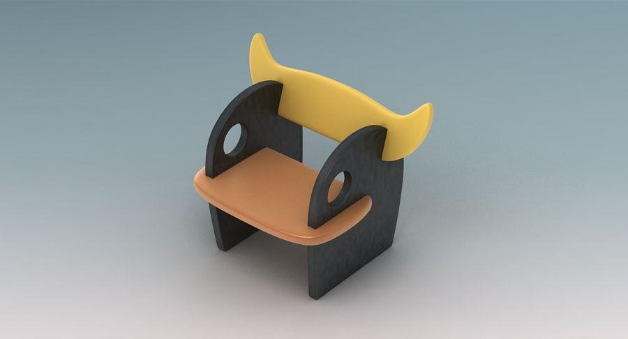 Cadeira para crianças royalty-free 3d model - Preview no. 4