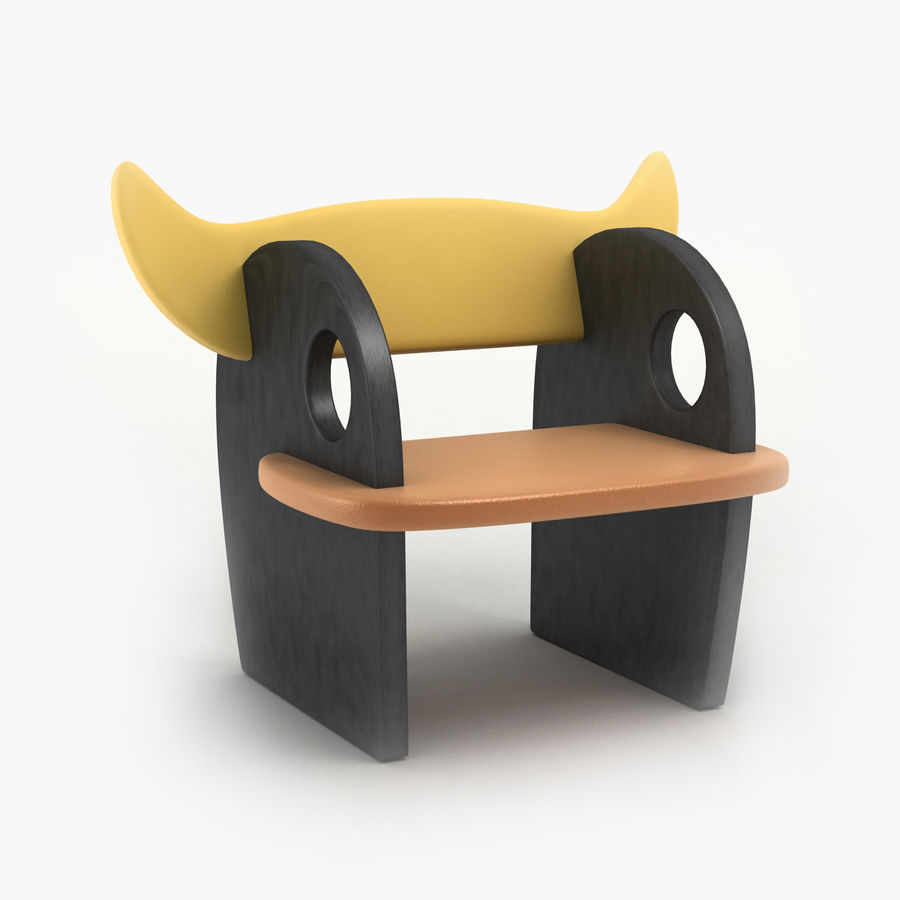 Silla para niños royalty-free modelo 3d - Preview no. 1